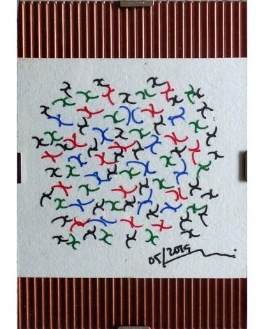 Dibujo abstracto Melanoxylon