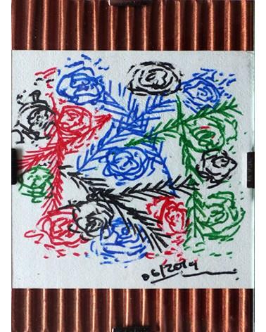 Dibujo floral Semperflorens