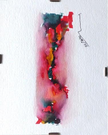 Pintura abstracta Pseudoacacia